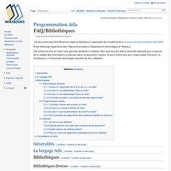 Programmation Ada/FAQ/Bibliothèques
