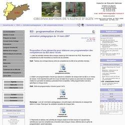 B2i : programmation d'école - CIRCONSCRIPTION DE VALENCE D'AGEN
