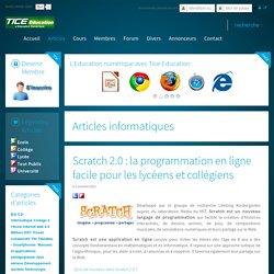 Scratch 2.0 : la programmation en ligne facile pour les lycéens et collégiens