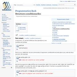 Programmation Bash/Structures conditionnelles