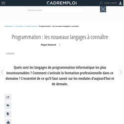 Programmation : les nouveaux langages à connaître