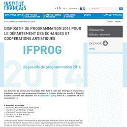 Dispositif de programmation 2014 pour le Département des échanges et coopérations artistiques