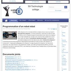 Programmation d'un robot mbot - SII-Technologie collège
