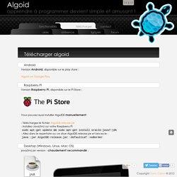 Algoid - download - langage de programmation pour tous les débutants !
