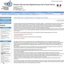 (HV2) Robotique : programmation et codage avec Ozobot - Direction des services départementaux de la Haute-Vienne