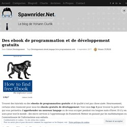 Des ebook de programmation et de développement gratuits - Spawnrider.Net