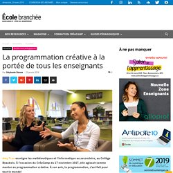 La programmation créative à la portée de tous les enseignants