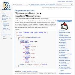 Programmation Java/Énumérations