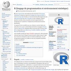 R (langage de programmation et environnement statistique)
