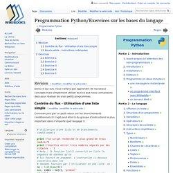 Programmation Python/Exercices sur les bases du langage