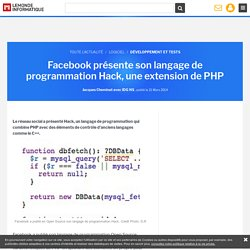 Hack extension PHP
