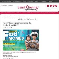 Festi'Mômes : programmation de février à mai 2017
