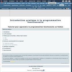 Tutoriel de programmation fonctionnelle en Python