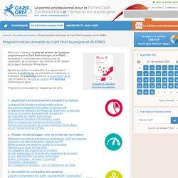 Programmation annuelle du Carif Oref Auvergne et du PRAO