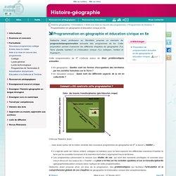 Programmation en géographie et éducation civique en 6e