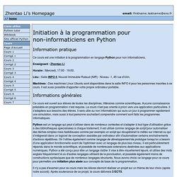 Initiation à la programmation pour non-informaticiens en Python