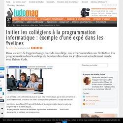 Initier les collégiens à la programmation informatique : exemple d'une expé dans les Yvelines