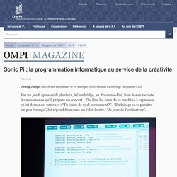 Sonic Pi : la programmation informatique au service de la créativité