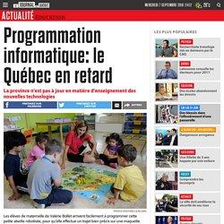 Programmation informatique: le Québec en retard