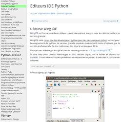 Les meilleurs IDE éditeurs python gratuits et payants - Python Programmation Cours Tutoriel Informatique Apprendre