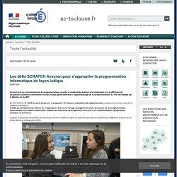 Les défis SCRATCH Aveyron pour s'approprier la programmation informatique de façon ludique