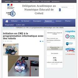 Initiation en CM2 à la programmation informatique avec des robots