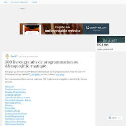 500 livres gratuits de programmation ou d'informatique