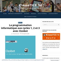 La programmation informatique aux cycles 1, 2 et 3 avec Ozobot – ClasseTICE 1d