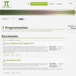 Cours de programmation sur les langages informatiques