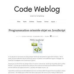 Programmation orientée objet en JavaScript
