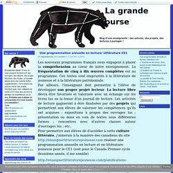 Une programmation annuelle en lecture/ Littérature CE1 - La grande ourse