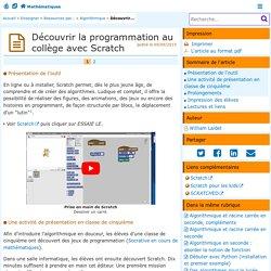 Découvrir la programmation au collège avec Scratch- Mathématiques