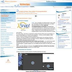 Scratch et Snap ! Pour initier à la programmation - Page 2/3 - Mathématiques