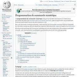 Programmation de commande numérique