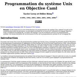 Programmation du système Unix en Objective Caml