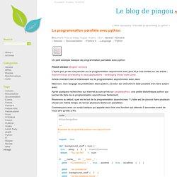 La programmation parallèle avec python - Le blog de pingou