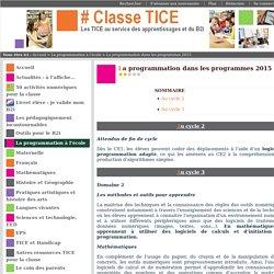 La programmation dans les programmes 2015
