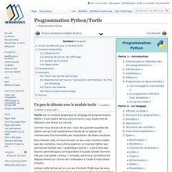 Programmation Python/Turtle