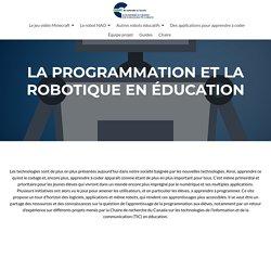 PROGRAMMATION ET ROBOTIQUE EN EDUCATION