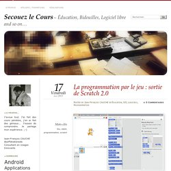 La programmation par le jeu : sortie de Scratch 2.0