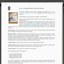 Livre - La programmation facile avec Python