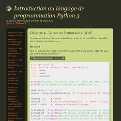 Cours de programmation en langage Python - Spécialité ISN - Terminale S