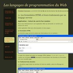 Les langages de programmation du Web - spécialité ISN - Terminale S