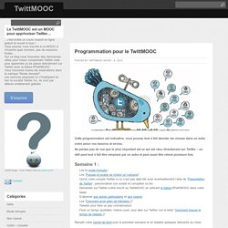 Programmation pour le TwittMOOC