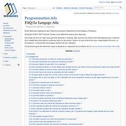 Programmation Ada/FAQ/Le Langage Ada