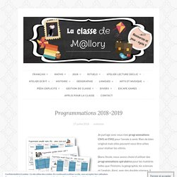 Programmations 2018-2019