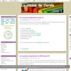 Programmations - La classe de Carole