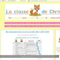 Mes programmations de maths en CE1-CE2 / 2017-2018 - Christall'Ecole