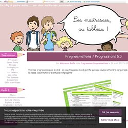 Programmations / Progressions GS