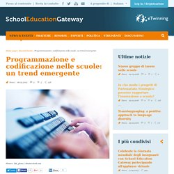 Programmazione e codificazione nelle scuole: un trend emergente